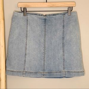 Wild Fable Jean skirt size 12 light denim